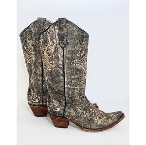 Circle G | Diamond Embroidered Cowgirl Boots